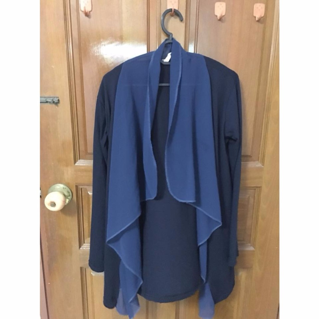 [3 for $15] Dark blue with laces cardigan