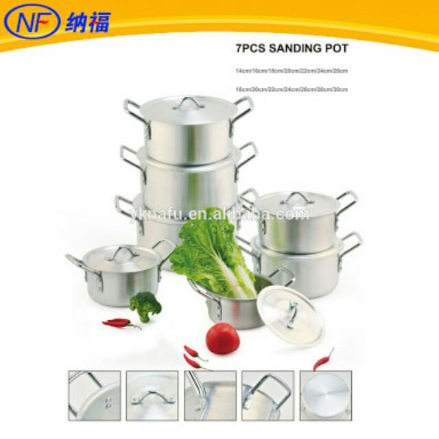 7pcs Cookware Sanding Pot