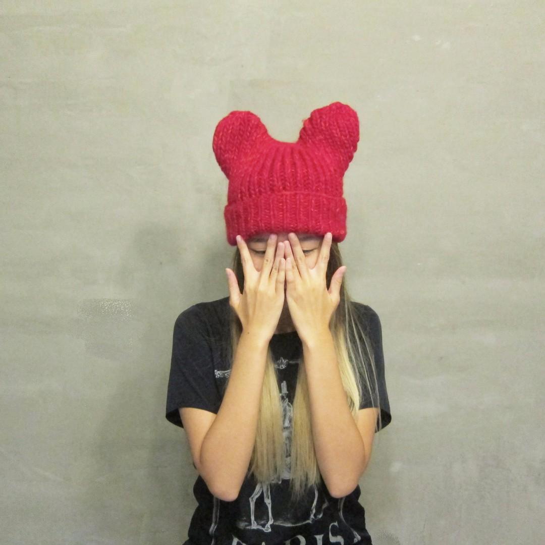全新-超可愛米奇頭毛帽
