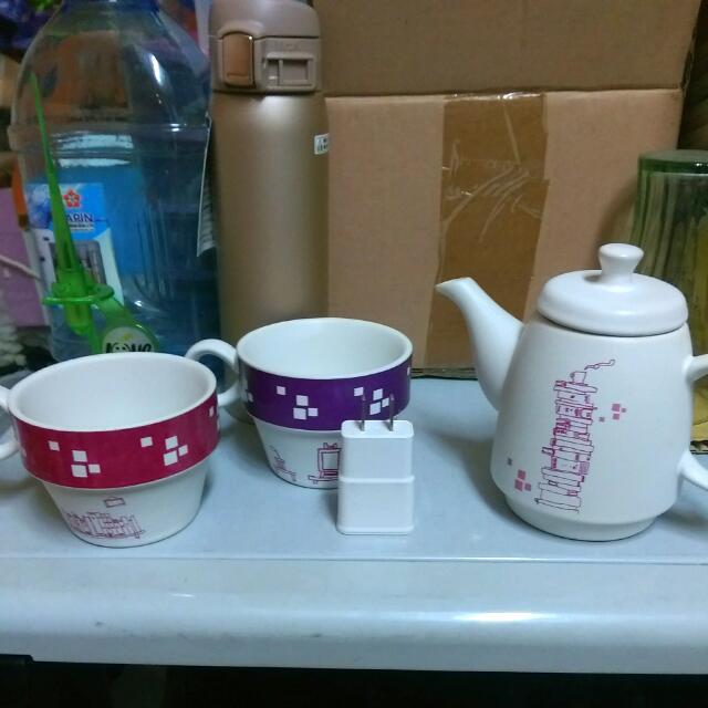 陶板屋  茶壺組 茶杯