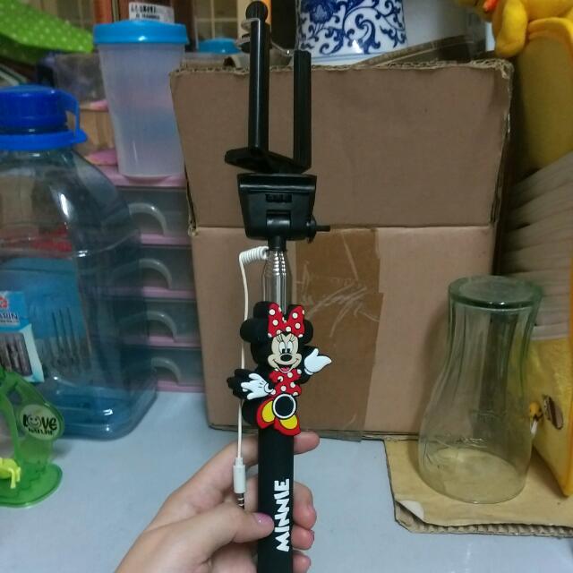 米妮 Hello Kitty 自拍棒 伸縮棒 線控