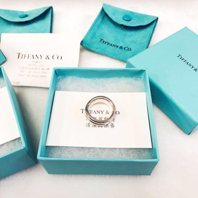 專櫃真品 Tiffany戒指 925純銀 曲線對戒款 9成新 絕不賣仿品