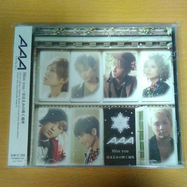 (有側標)AAA Miss you/綻放笑容的場所<eighth wonder先發單曲>