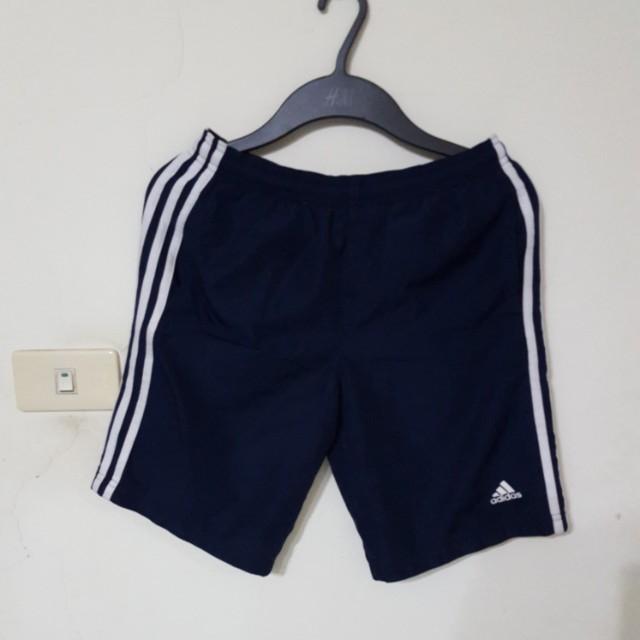 ADIDAS深藍色帆布運動褲