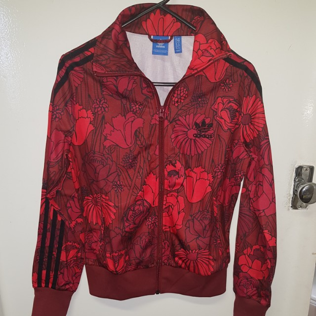 Adidas Originals Firebird Red Tracksuit Top size 10 LIMITED EDITION