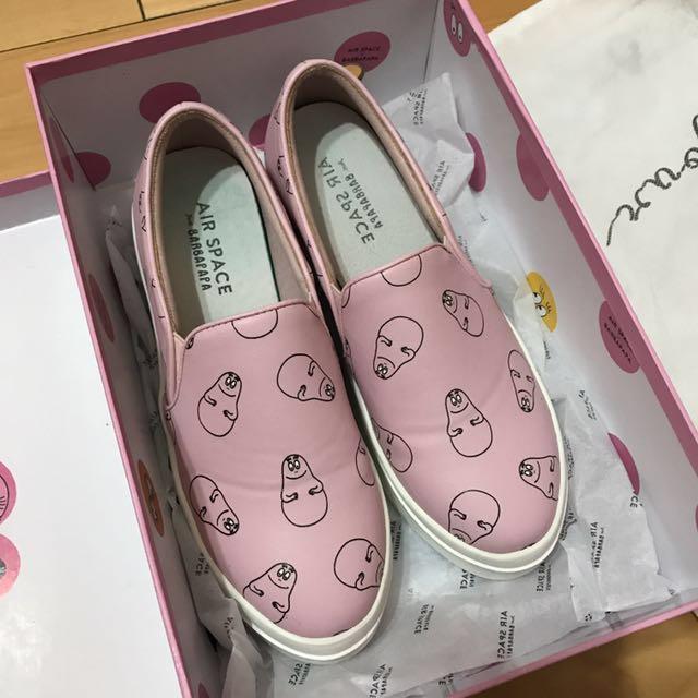 AIR Space x Barbapapa粉紅色厚底懶人鞋