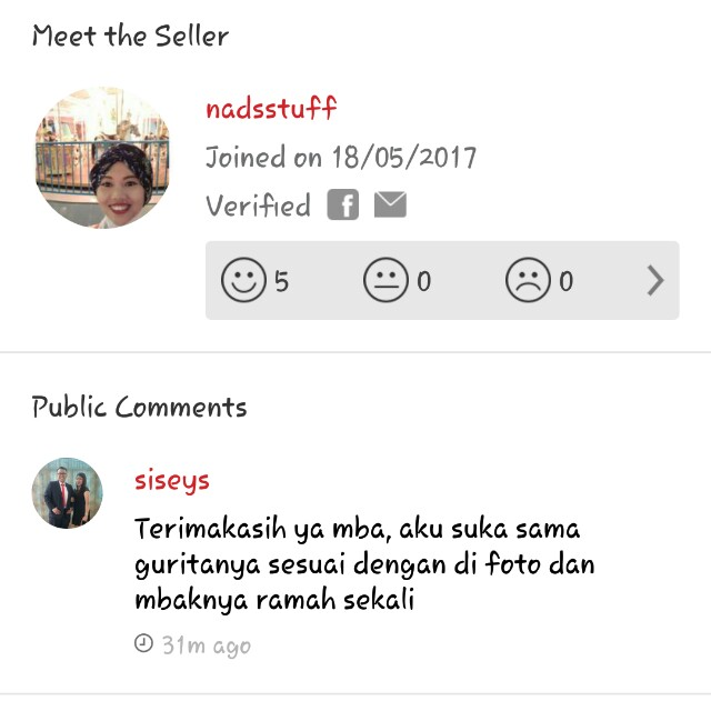 Alhamdulillah another good review from customer. Makasih mom :)