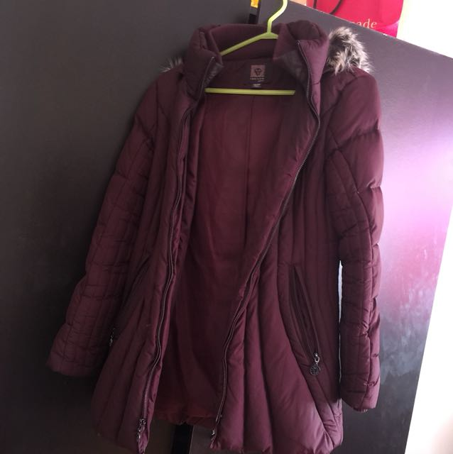Annie Kline winter jacket in burgundy