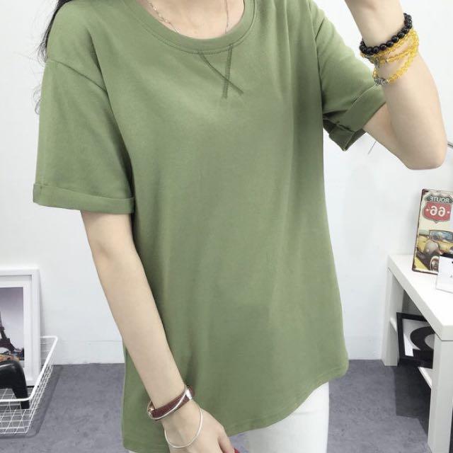 Army Green T-shirt Dress