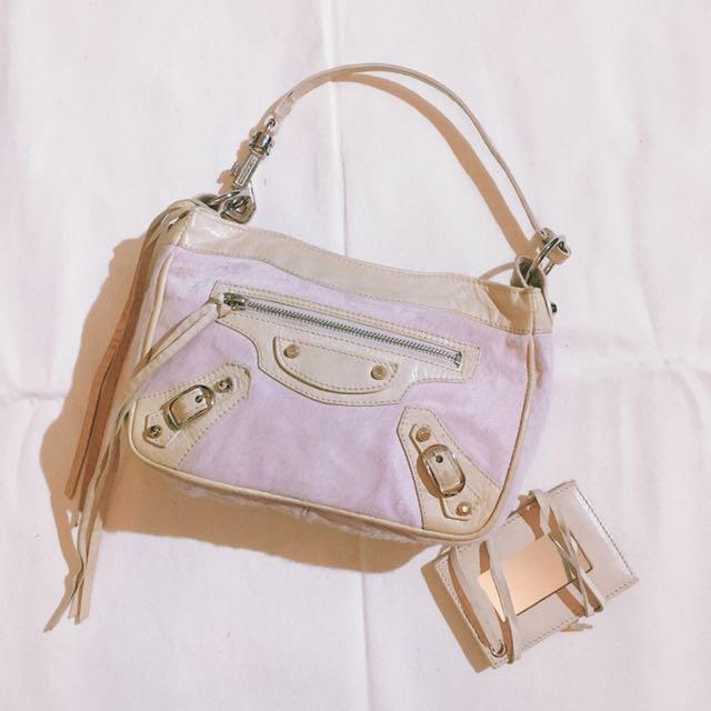 Authentic BALENCIAGA Ponyhair Pochette Bag