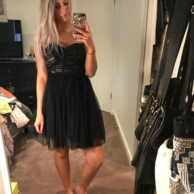 BARDOT Layered Net Mini Dress
