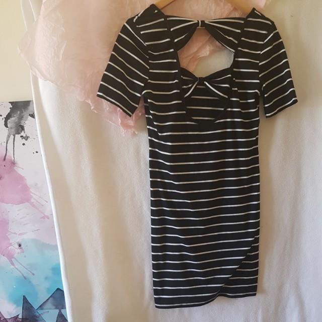 Black & White Dotti Dress