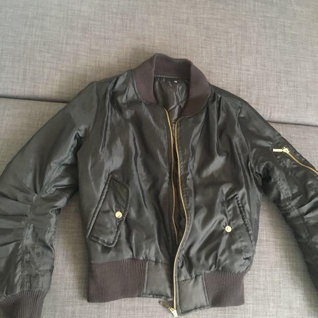 Black Bomber Jacket (XS)