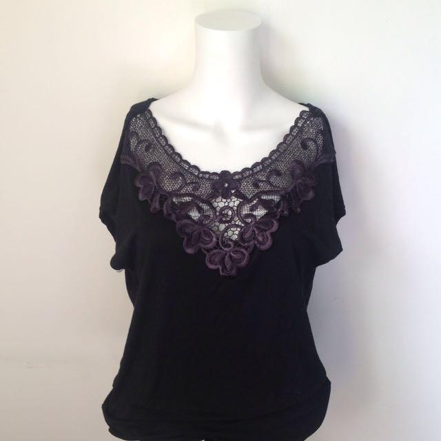 Black Lace Top (L)