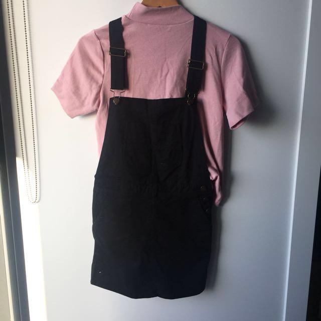 Black overall skirt (M)