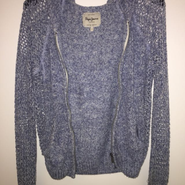 Blue Knit Jacket