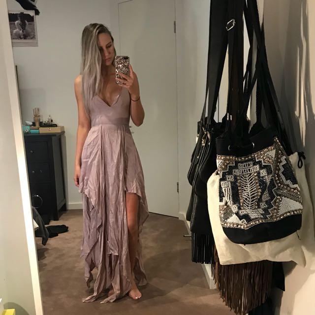 Blush Silky Boho Dress