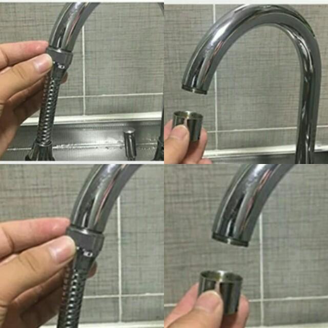 BN Kitchen Faucet Splash Bath Shower Long Neck Filter Tap Water ...