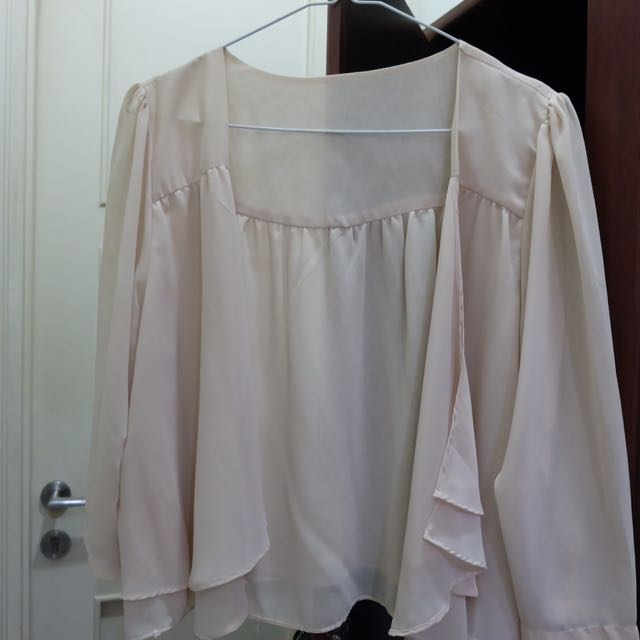 Bolero Outerwear Broken White Transparan