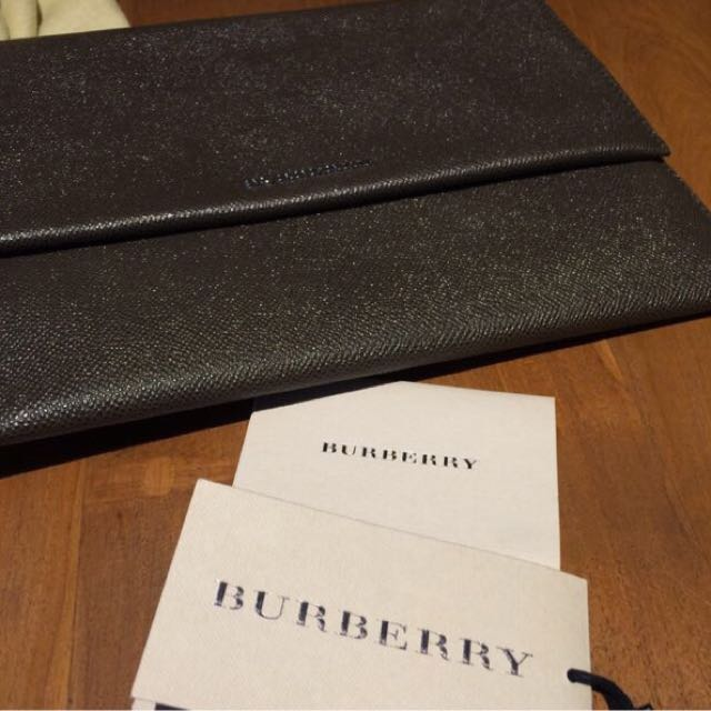 Burberry Clutch Original - Brown Colour - limited ed