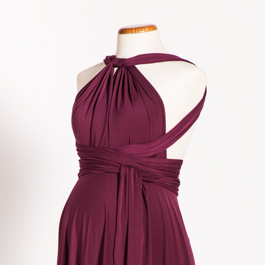 adc59879947 bridesmaid burgundy infinity   convertible dress