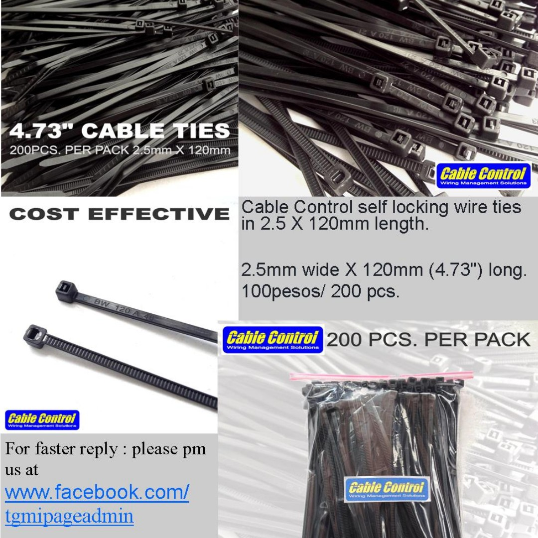 Cable Control HIGH QUALITY nylon wire ties, Auto Accessories ...