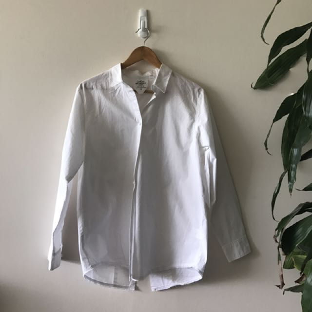 *Cheap Monday* - oversized white button shirt - fits size small/medium