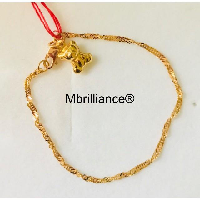 Children S Baby Bear Twist Bracelet 916 Gold By Mbrilliance