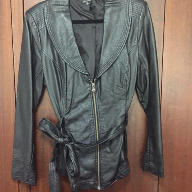 City Chic Leather Jacket - Size M