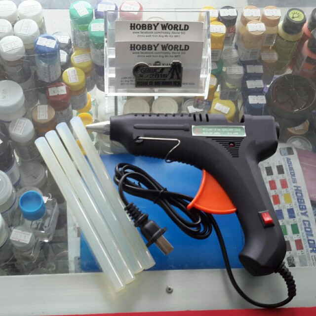 Clue Gun 60w With 30 Refill Stick For Plastic Model Kit Custom Repair and Remove Join Part
