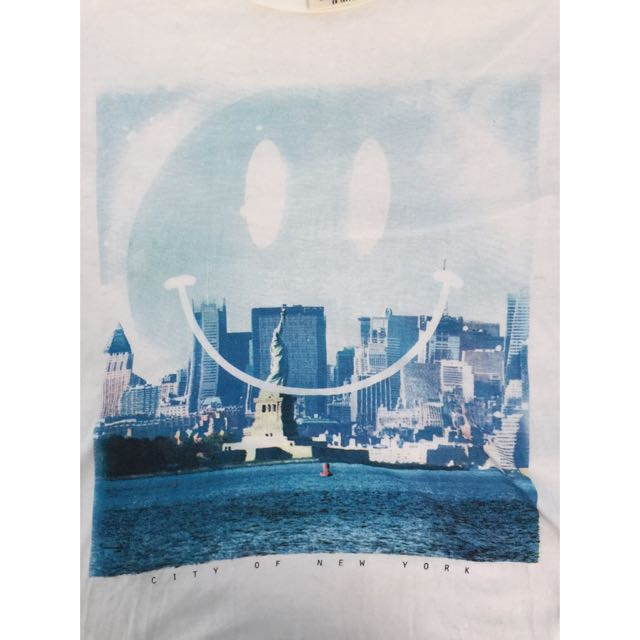 Cotton On Smiley New York City Shirt Size: L