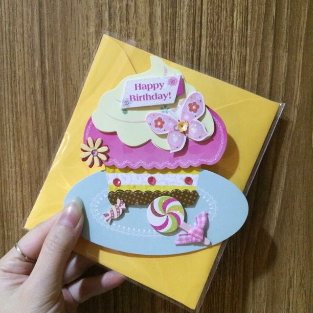 Cupcake Birthday Card Type B
