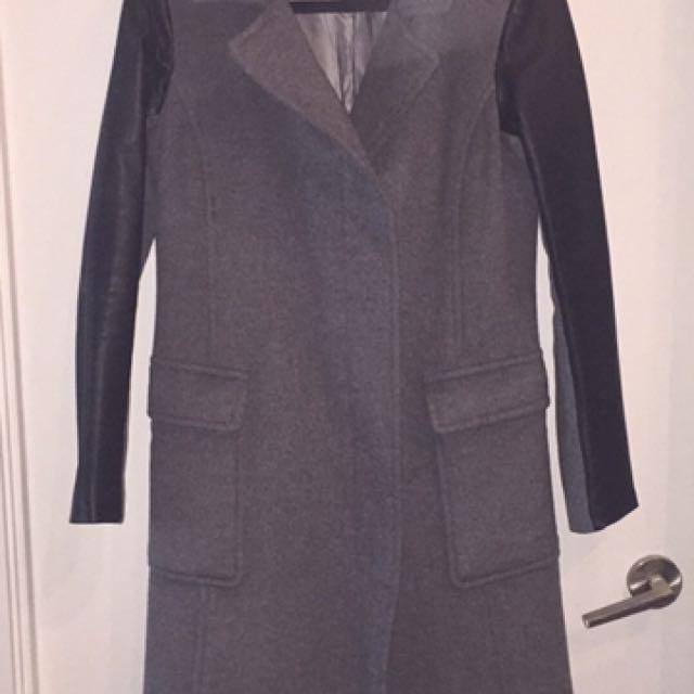 Danier Leather Wool & Leather Jacket