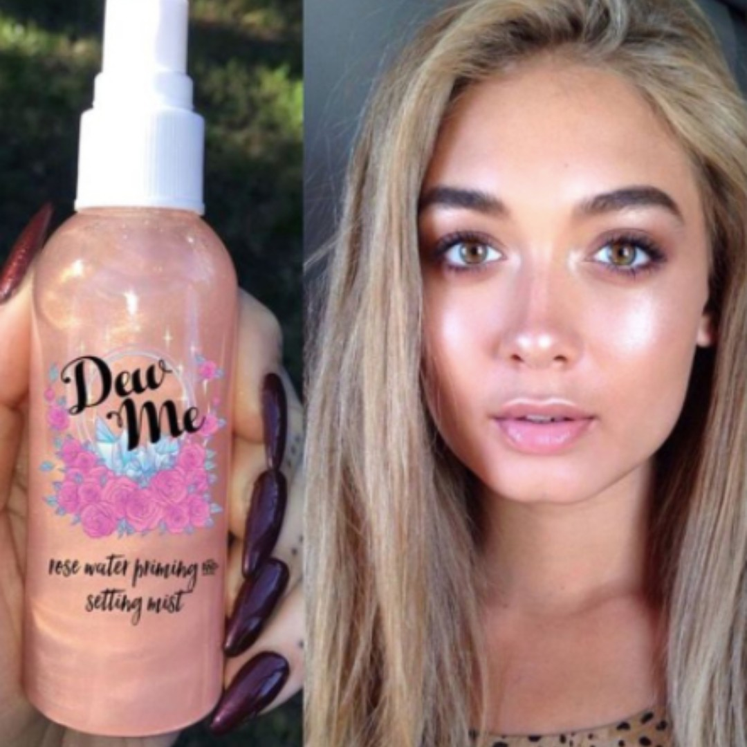 Dew me rose Water Priming and Setting Mist
