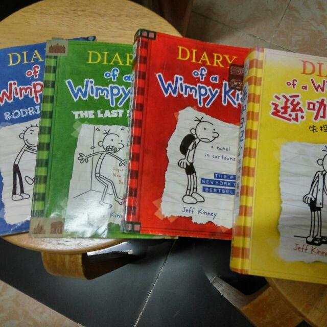 Diary of Wimpy Kids 遜咖日記 4本 中英文 HK $110