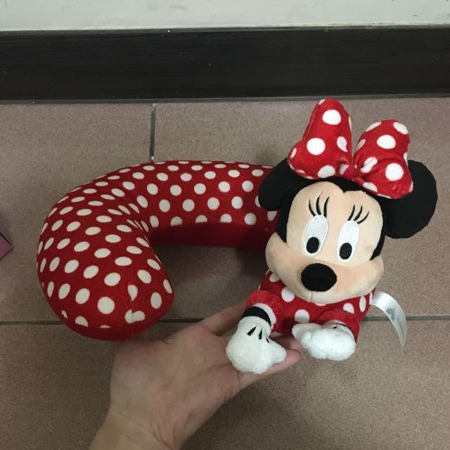 Disney Minnie 迪士尼米妮頸枕 飛機枕 旅行枕