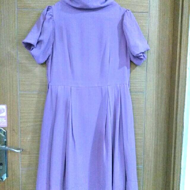 Dress Midi Turtleneck Loose