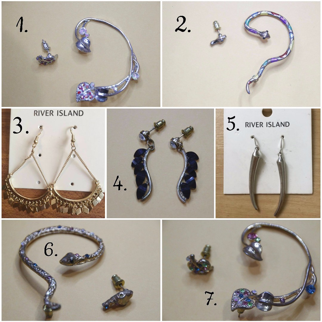 Earings and Ear Cuffs