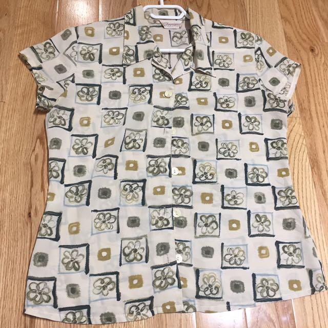 Flower Button Shirt