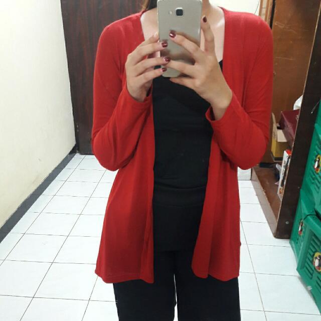 (FREEONGKIR)Cardigan Basic Big Size