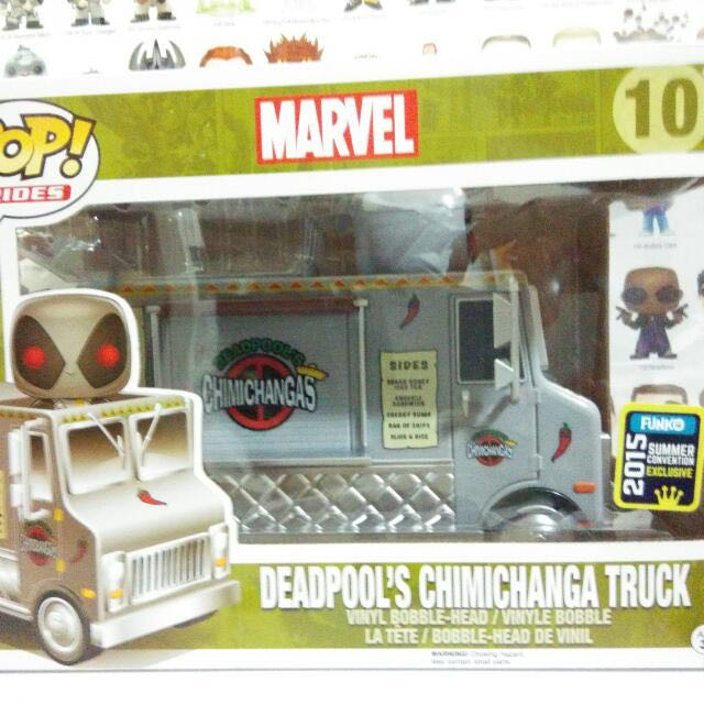 Funko Pop Ride Deadpool Chimichanga Truck With Grey Deadpool Vinyl Figure Collectible Toy Gift Movie Comic Super Hero 2015 Summer Convention Exclusive