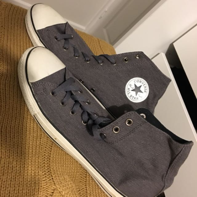 Grey knit style Converse HighTops