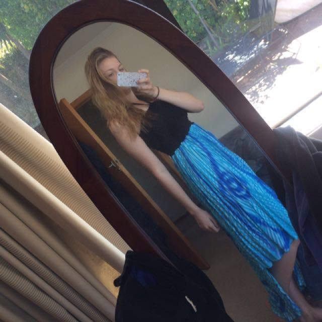 Handmade waterfall dress