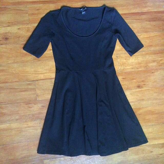 H&M Black Skater Dress (LBD)
