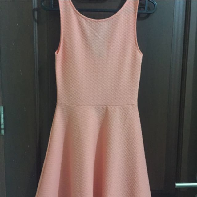 H&M peach flare dress