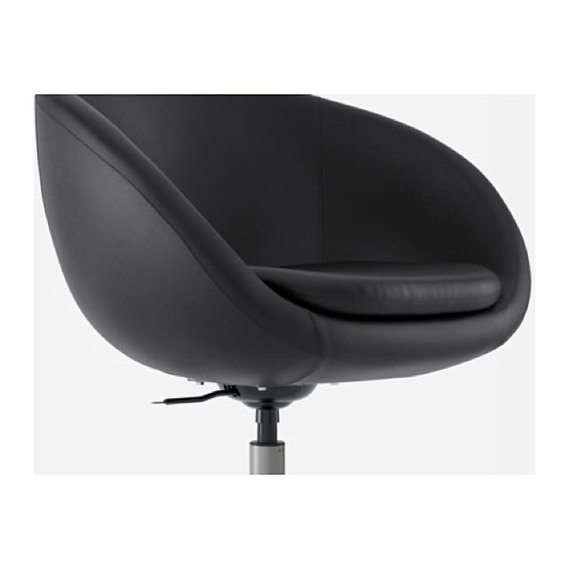 IKEA SKRUVSTA Swivel Chair   Indult Black, Furniture, Tables U0026 Chairs On  Carousell
