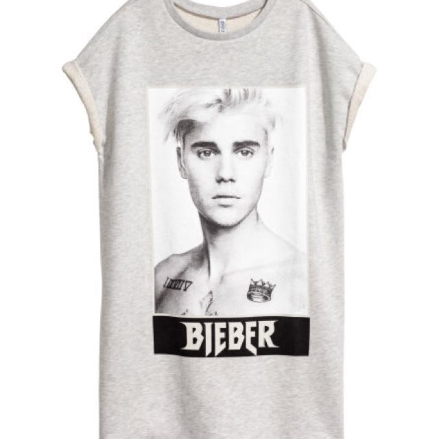 JUSTIN BIEBER ORIGINAL USA WOMEN SWEATSHIRT DRESS HYPEBEAST PO ONLY