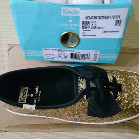 Keds Kate Spade Laceless Bow Gold