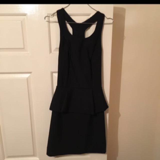 Kookai Black Peplums Dress