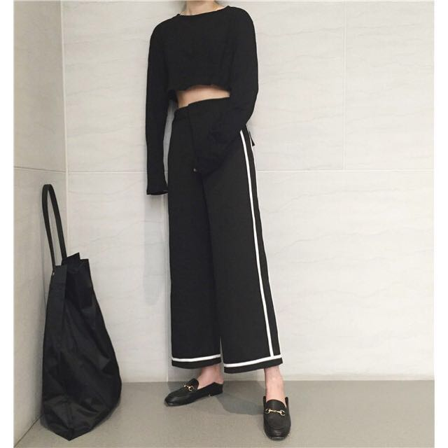 Korean wide loose pants